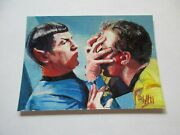 Star Trek Tos Archives And Inscriptions Charles Hall Sketch Card 10 Kirk And Spock
