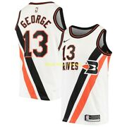Paul George La Clippers Braves Nike Classic Edition Swingman Jersey 100 Auth