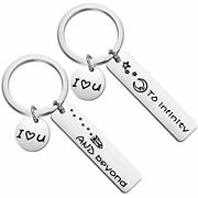 Couples Keychains I Love You To Infinity And Beyond Boyfriend Girlfriend Gift