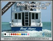 Custom Boat Name And Poc Decals 8 X 48 2 Color