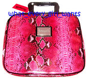 New Betsey Johnson Pink Faux Snakeskin Laptop Notebook Ipad Sleeve Case Bag Tote