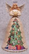 Figurine Jim Shore Christmas White Angel With Christmas Tree New With Gift Box