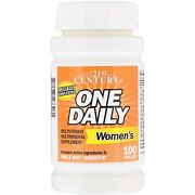 21st Century One Daily, Women's Multivitamin Supplement 100 Tablets Bb 06/22