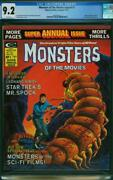 Monsters Of The Movies Annual 1 Cgc 9.2 White Pages Spock A8