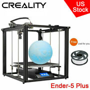 Us Creality Ender 5 Plus 3d Printer Auto Leveling Meanwell Power Supply+filament