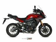 Complete Exhaust 3x1 Mivv Oval Carbon-carbon Yamaha Mt-09 Tracer 2015-2020