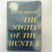 The Night Of The Hunter - Signed By Davis Grubb - 1953 Harper 1st Ed - Vg- / Vg