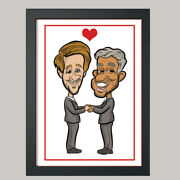 2 Person Digital Wedding Caricature From Photo - Personalised - Digital File