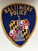 Police Badge Patch Baltimore Police