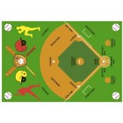 Fun Rugs Ft-122 3958 Baseball Field Childrens Rug 39-inch By 58-inch