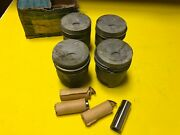Mercedes 190d 1958-1959 Engine Piston Set W. Rings And Pins 85.5 Mm 2nd Size Nos