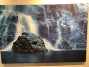 Ron Thiele Blue Waterfall Limited Edition Canvas 1/50 Signed And Numbered
