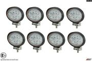 Professional Hq Oval 24w 8x Led Work Lights Flood Beam Digger Tractor Digger E9
