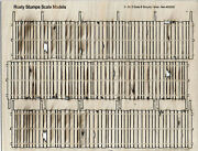 S Scale 8' Tall Security Fence On30 Model Railroad Unpainted Laser Kit Rsmd2305