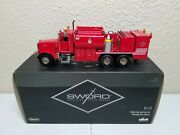 Peterbilt 357 Elliott Fuel And Lube Truck - Red - Sword 150 Scale Sw2041-r New
