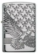 Zippo Lighter Armor 49027 Eagle American Windproof Rechargeable Lighter B