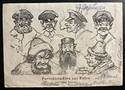 1939 Dresden Feldpost Germany Picture Postcard Stampless Cover Portrait Studies