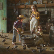 Morgan Weistling The Baby Ducklings Limited Edition Canvas Art W Signed 10 Ap