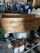 Rare Vintage Evinrude Motors Shipping Container Crate.