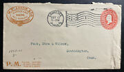 1899 Lawrence Ma Usa Advertising Cover To Southington Ct Austin Mill Supplies