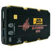 Autometer Ep-800 Emergency Battery Pack Jump Starter 1800 Mah 400 Cranking Amps