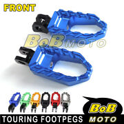 Wide Front Foot Pegs Pedals Rests For Yamaha Yzf-r3 R6 Mt-09 Tdm 900 Fz07 Fz1