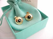 And Co Silver 18k Gold Picasso Magic Reversible Disc Earrings Rare Gift