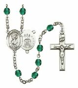 December Birth Month Prayer Bead Rosary With Saint Christopher Air Force Centerp