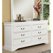 Dresser Acme Louis Philippe Iii Wood Furniture With 6 Drawers White 60 X 18 X