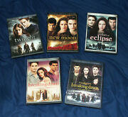 Twilight + New Moon Eclipse Breaking Dawn Part 1 And 2 Dvd's Special Editions