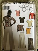 New Simplicity Easy Chic Pattern 9760 Misses' Plus Sz 12-18 Pants And Knit Tops