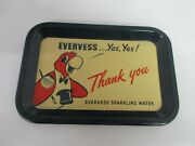 Vintage Advertising Pepsi Evervess Water Tip Tray Excellent Condition 409-i