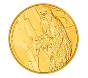 2017 Chewbacca -1oz Gold Coin - Niue 250 Dollars 2016 250 Proof Only 500 Pcs