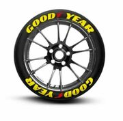 Tire Lettering Good Year Yellow Permanent Stickers 14-24 Pack Letters 1.25