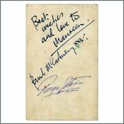 Paul Mccartney And Ringo Starr 1963 Autographed Parlophone Promotional Card Uk