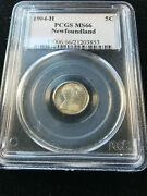 1904h Newfoundland Andcent5 Cent Pcgs Graded Ms-66