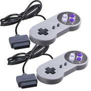 2 New Super Nintendo Snes System Console Replacement Controller 6ft For Sns-005