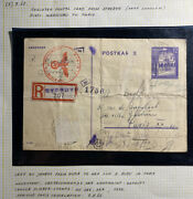1942 Gg Germany Stredyn Kosow Ghetto Ps Postcard Cover To Paris France A Rudy