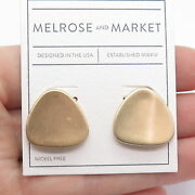 Old Stock Melrose And Market Drop Stud Earrings In Gold Tone