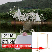 4.9ft Arch Green Metal Wedding Prom Flower Stand Rack Garden Bridal Party Decor