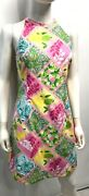 Lily Pulitzer Sheath Dress Casual Summer Floral Print Sleeveless Lined Size 4