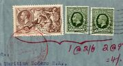 Gb 1937 Kgv 2/6 Sea Horse +9dx2 To Argentina With German Zeppelin Type Cancel