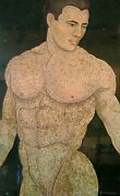 Contemporary Painting Nude Men On Egg Shells Technic