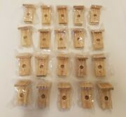 Wholesale Lot Of 20 Unfinished Wood 3 Miniature Bird Houses For Crafts Wreaths