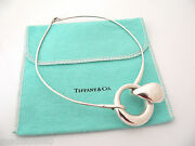And Co Silver Peretti Large Teardrop Hook Necklace 1975 Vintage Gift Pouch