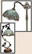 Deluxe Style Floor Table Desk Lamp Shade Dragonfly Vintage Victorian New