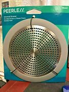 Shower Tub Strainer, Fits Over Most Drains, Stainless Steel, Peerless, Prl047