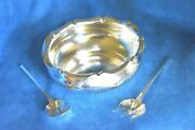 Antique 1893 Arts And Crafts Koch Bergfeld 800 Germany Sterling Silver Bowl Set