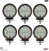 Six Powerful 39w Led 4.7'' Round Led Work Lights 12v 24v Lamps For Lorry Trailer
