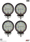 4x Powerful 39w Led 4.7'' Round Led Work Lights 12v 24v Lamps For Lorry Trailer